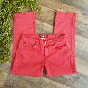 Lucky Brand • Red Sweet' N Crop Jeans
